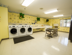 The on-site laundry facilities